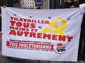 Banderole de l'OCML Voie Prolétarienne lors de la mobilisation contre l'ANI.JPG