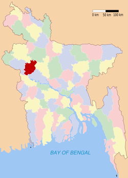 Location of Natore in Bangladesh