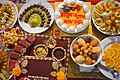 Bangladeshi traditional turmeric night's food and its decoration.jpg