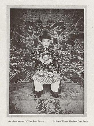 Bảo Đại - Prince Vĩnh Thụy