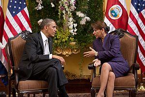 2013 in Costa Rica - Barack Obama and Laura Chinchilla