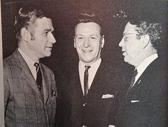 Mark Hatfield - Hatfield (left) with George Barasch (center) and Senator Vance Hartke (right) in 1968