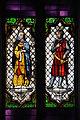 Barcelona. Capella de Santa Àgata. Vitrall- Pere el Catòlic i Maria de Montpeller, obra de Georg Muller (1858) sobre disseny de Josep Mirabent (14740023821).jpg