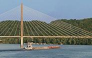 Barge under EE bridge