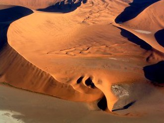 Barchan - Barchan in the Namib Desert.