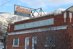 Brigham City, Utah - Image: Baron Woolen Mills, 2007