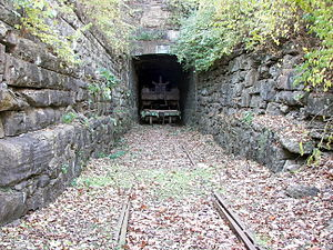 Museum of Transportation - The museum's grounds include Barretts Tunnel, one of the first railroad tunnels west of the Mississippi River.