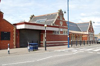 Barry Island railway station - Station entrance in June 2010