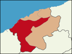 Location of Bartın District in Bartın Province