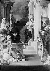 Acts of Mercy. St Joachim Visiting St Elizabeth