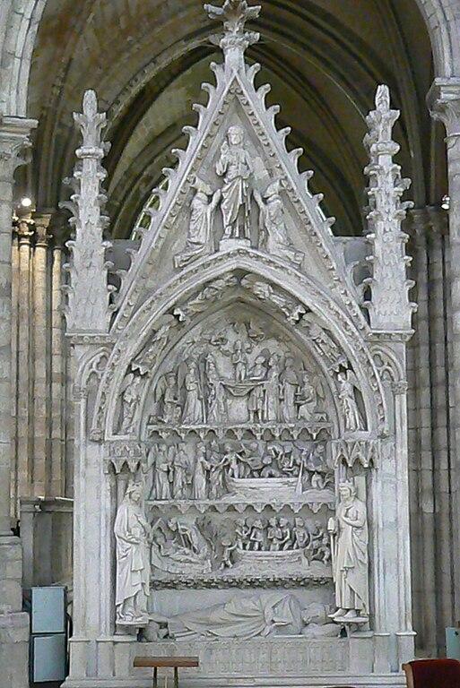 file basilica of saint denis paris interior tomb of dagobert wikimedia commons. Black Bedroom Furniture Sets. Home Design Ideas