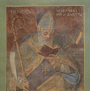 Basilika Seckau, Bischofskapelle, Halbfigurenportrait Bischof Heinrich I. (Seckau).jpg
