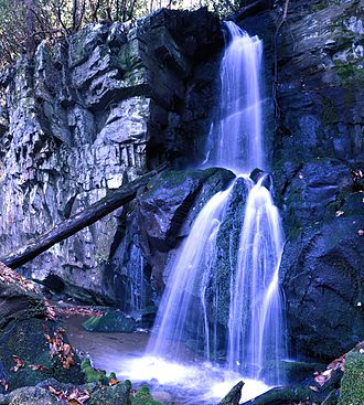 Roaring Fork (Great Smoky Mountains) - Baskins Creek Falls, located along Baskins Creek Trail in the heart of the Roaring Fork area