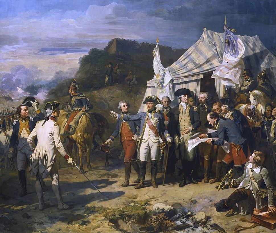 Bataille de Yorktown by Auguste Couder