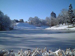 Newton Park - The upper lake at Newton Park