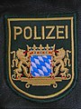 Bavarian State Police Patch on leather.JPG