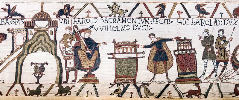 File:Bayeux Tapestry scene23 Harold oath William.jpg