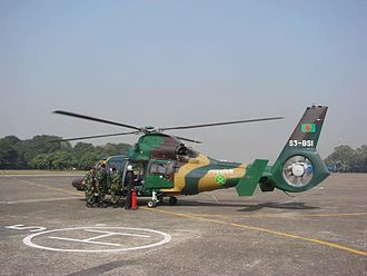Bangladesh Army - Eurocopter AS365 Dauphin helicopter of Bangladesh Army