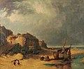 Beach Scene, Mundesley, Norfolk by Robert Ladbrooke.jpg
