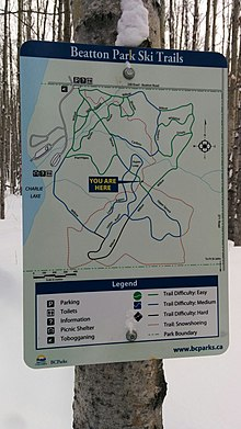 Beatton Provincial Park Trail Map