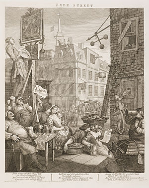 Beer Street and Gin Lane - Beer Street 1759 issue