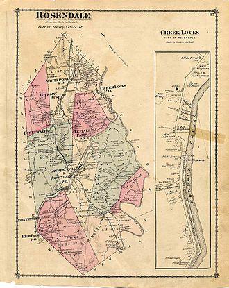 Rosendale, New York - Rosendale in 1875