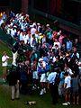 Before the ceremony of the Isner-Mahut match.jpg