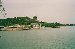 view over a part of Beijing's Summer Palace