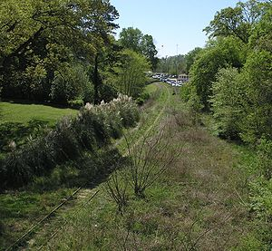 BeltLine - An as-yet undeveloped stretch of the BeltLine behind Piedmont Park.