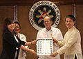Benigno S. Aquino III with TESDA director general Emmanuel Joel Villanueva.jpg