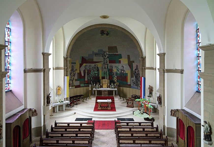 Berdorf (Grand Duchy of Luxembourg): interior of St John's church