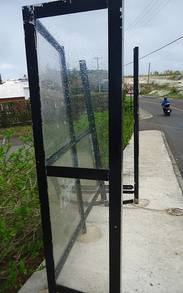 File:Bermuda (UK) image number 266 bus stop damaged probably by hurricane.jpg