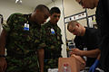 Bermuda Regiment Medics and US Navy Corspmen at USMCB Camp Lejeune 12 May 2011.jpg