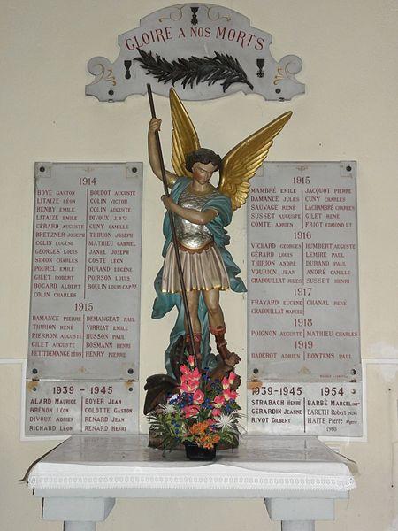 Bertrichamps (M-et-M) église, plaques monument aux morts