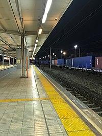 Biçerova station at night.jpg