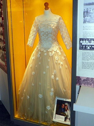 Bianca Jackson - The wedding dress worn by Bianca for her wedding to Ricky in April 1997. The wedding episode was watched by 22 million viewers.