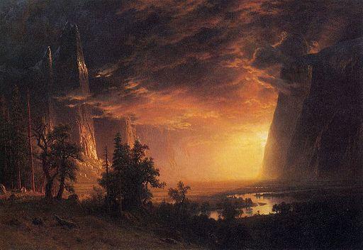 Bierstadt Albert Sunset in the Yosemite Valley