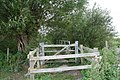 Big kissing gate on the path - geograph.org.uk - 1464005.jpg