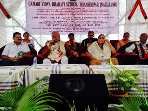 Padmanabha Acharya - Image: Binod Sethi with Governor of Nagaland