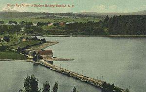 Enfield, New Hampshire - Image: Bird's eye View of Shaker Bridge, Enfield, NH