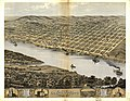 Bird's eye view of the city of Leavenworth, Kansas 1869. LOC 73693410.jpg