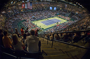 Birmingham–Jefferson Convention Complex - Interior of arena during 2009 Davis Cup