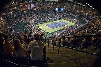 Birmingham–Jefferson Convention Complex - Interior of arena during 2009 Davis Cup