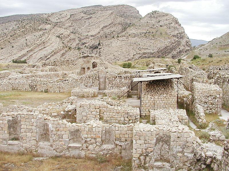 Dracma de Cosroes II. Año 36 Ceca BYSh 800px-Bishapur_%28Iran%29_Sassanid_Period_2