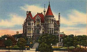 Bishop's Palace, Galveston - Bishop's Residence Galveston TX, (postcard c. 1900)