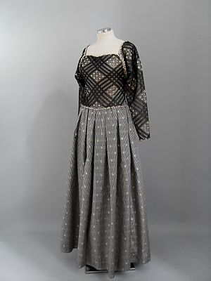 James Galanos - James Galanos lace and taffeta gown. New York 1980s. PFF collection, Nafplion
