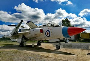 Gatwick Aviation Museum - The Buccaneer S.1 outside the Gatwick Aviation Museum