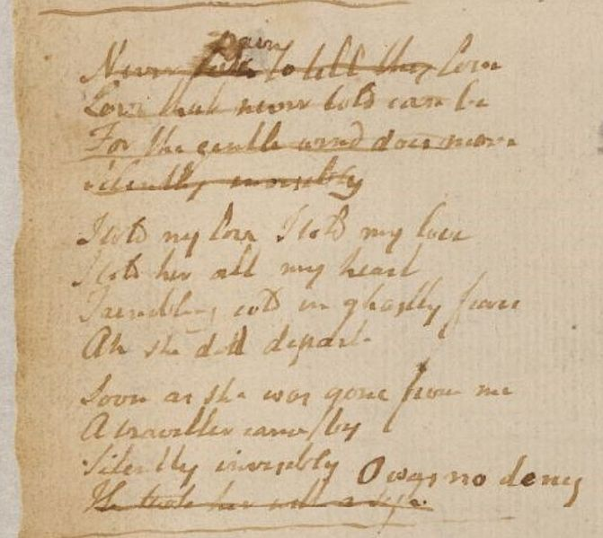 File:Blake manuscript - Never pain to tell thy love.jpg