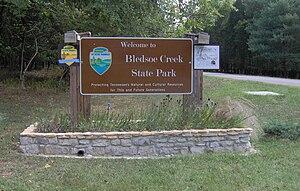 Bledsoe Creek State Park - Image: Bledsoe creek park sign tn 1