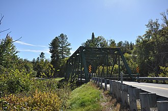 National Register of Historic Places listings in Essex County, Vermont - Image: Bloomfield VT Rt 102Nullhegan River Bridge
